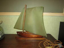 An old wooden boat lamp