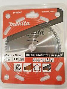 GENUINE MAKITA D-65567 160MM SAWBLADE FITS FESTOOL TS55 TS55R SCHEPPACH PL55