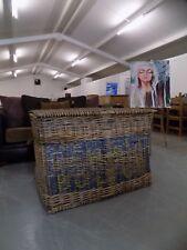 Vintage Old Industrial Mill Wicker Basket H.P. Bolton  *We Deliver*
