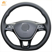 Leather Steering Wheel Cover for VW Golf 7 Mk7 New Polo Passat B8 Jetta #GB18