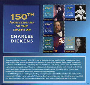 Guyana Writers Stamps 2020 MNH Charles Dickens Memorial Famous People 5v M/S