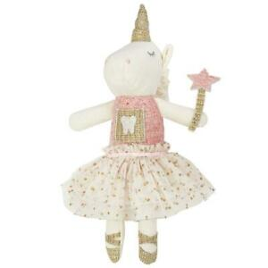 Mud Pie Dream in Glitter Collection Girls Unicorn Tooth Fairy Doll