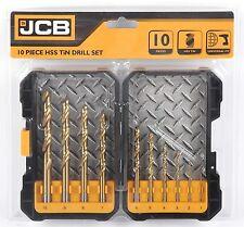 JCB HSS TiN Drill Bit Set 10 Piece