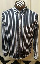 AMERICAN EAGLE shirt - L - VINTAGE FIT - STRIPES - Dark Blue - White