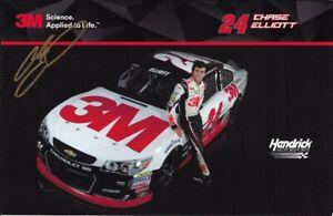2016 Chase Elliott NAPA Auto Parts 3M NASCAR Signed Auto 6x9 Post Hero Card