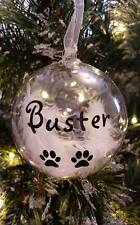 Personalised Pet Remembrance Christmas Bauble - Any Name