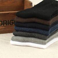 1 Pair Men's Business Dress Cotton Socks Classic Style Pure Color Casual Socks