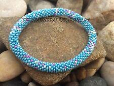 Nepal Bracelet glass beads Seed Beads Roll on Bracelets Crochet bracelet G707