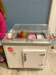 American Girl Ice Cream Cart - Retired - Most Accessories Included