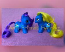 G1 Style Pony Custom Hqg1c - Moon Twins - PFF - Teeny Itty Bitty Tiny