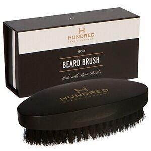 No 2 Beard Brush, Boar Bristle Beard and Hair Brush by Hundred Beard Company