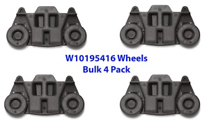 4 Pack W10195416 Whirlpool Dishwasher Wheel Assembly AP5983730 Bulk