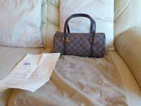 Louis Vuitton Vintage Damier Ebene  Papillon Bag 100% Genuine 80's