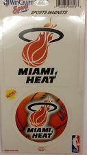 NBA Miami Heat 2 Piece Die Cut Magnet Set, NEW