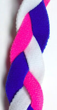 NEW! Pink White Blue Grippy Band Headband Hair Sport Soccer Softball Stretch