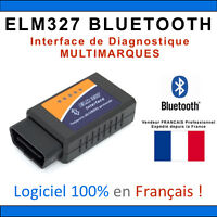VALISE INTERFACE ELM 327 BLUETOOTH OBD2 ODB2 DIAGNOSTIQUE SCAN VOITURE ELM327
