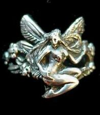 Celtic Jewelry Fairy LUCK LOVE 925 Sterling Silver Ring