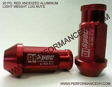 M12 X 1.25 Red Aluminum Racing Lug Nut Subaru WRX STI S13 S14 Z32 Z33