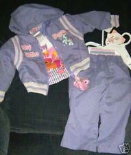 L@@K NWT AWESOME $42.00  MY LITTLE PONY 3 PC WINDSUIT