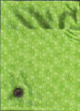 Pretty Bright Lime Green Floral Print TOT Fabric