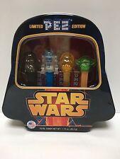 Star Wars Limited Edition Pez Dispenser Set of 4 w/Metal Tin & PEZ Candy