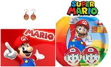 Anime Nintendo Super Mario Dangle Earrings Girl Cosplay W/Gift Box USA Seller