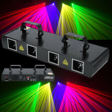4 Lens 4 Beam RGBY DMX DJ Laser Stage Light Club Party Lighting Projector Show