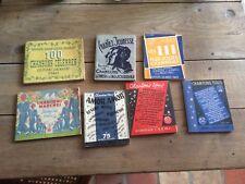 lot de 7 livres anciens  / manuels livrets de chants ! jeunesse de france