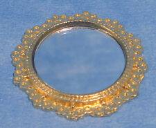 Streets Ahead Dolls House  1:12th Scale Gold Coloured Round Mirror D003 *