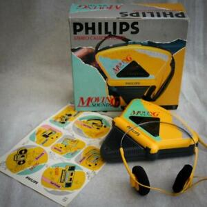 Vintage Boxed Philips 'Moving Sound' D6608 Stereo Cassette Tape Player Walkman