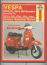 Vespa P PX 125 200 Scooters (1978-1995) Haynes Manual P125 PX200 P150 PX150 BY70