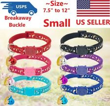 """Breakaway Pet Collars Adjustable 7"""" to 11.5"""" Small Cat or Pet collar with Bell"""