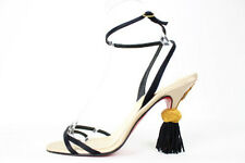 Auth Christian Louboutin Tie Back Tassel Heel Sandal size:38.5 Free Shipping