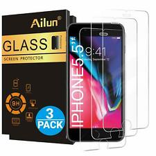 iPhone7 Plus 8 Plus Heavy Duty Tempered Glass Screen Protector 3D 9H 3 Pack