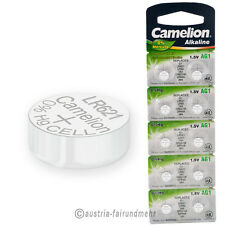 """10x Camelion Knopfzellen Alkaline AG1 LR60 LR621 364"