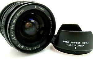 Minolta SIGMA Mini Wide 28mm f2,8 Multi Coated Minolta Sony lr001
