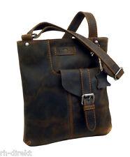 LandLeder  1011- CROSS-BODYBAG  Postbag Unisex vintage-Brown Tasche
