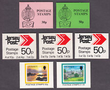 JERSEY 1984 - 1992 CHACHET ( BOOKS ) X 7 DIFFERENT.