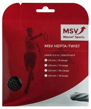 MSV Focus Hepta-Twist Tennis String Set - 17 / 1.25mm Black