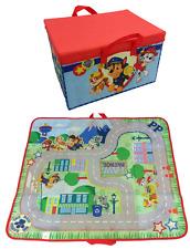 Paw PATROL 2 in 1 giocattolo scatola di immagazzinaggio e Città Strada Tappeto di gioco con maniglie di trasporto