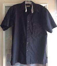 AF Action Fever Men's Short Sleeve Button-Front Shirt L