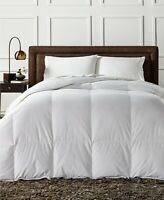 New Charter Club Full Queen  European White Down Comforter Heavy Weight 600 fill