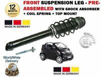 Per Smart Cabrio Coupe Anteriore Shock Absorber + Bobina Molla + Supporto + Bump