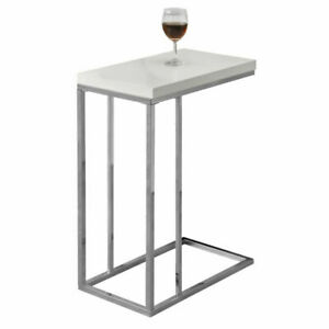 Monarch Specialties I3008 Accent Table - Glossy White