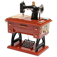 Vintage Music Box Mini Sewing Machine Style Mechanical Birthday Gift Table