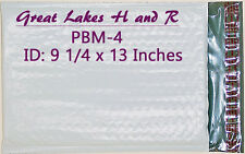 """16 Pbm-4, Poly Bubble Cushioned Envelope Mailers, Id: 9.25"""" x 13"""""""