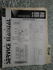 Kenwood JL-630 730 830 930 w service manual original repair book stereo speaker