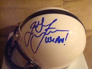 """James Franklin AUTOGRAPHED PENN STATE NITTANY LIONS  Mini Helmet SIGNED """"WE ARE"""""""