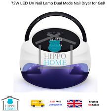72W LED Lampada UV per unghie Dual Mode Nail Dryer per gel/Lampada CND Shellac Nail con Han