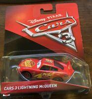 Disney Pixar Mattel Cars 3 Die-Cast Lightning McQueen Toy Vehicle NIB New in Box